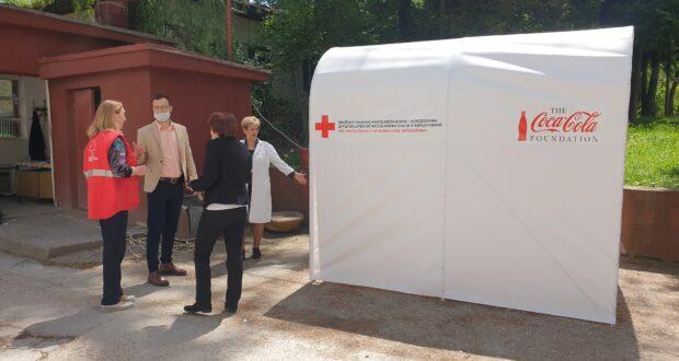 Власеница : Црвени крст поклонио тунел за дезинфекцију дому здравља