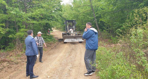 Власеница : Настављена санација локалних путева